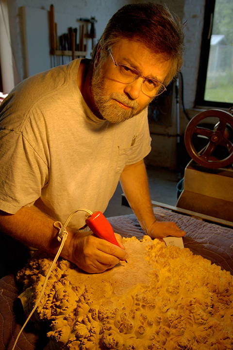 Mark Lindquist, Artist, Wood Sculptor, One of the early pioneers of the field of Woodturning / Sculpture in America.